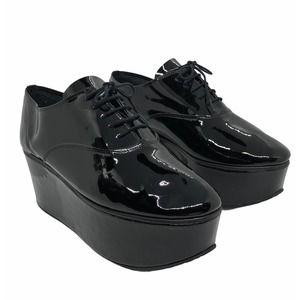 REPETTO Paris Black Patent Leather Platform Shoes